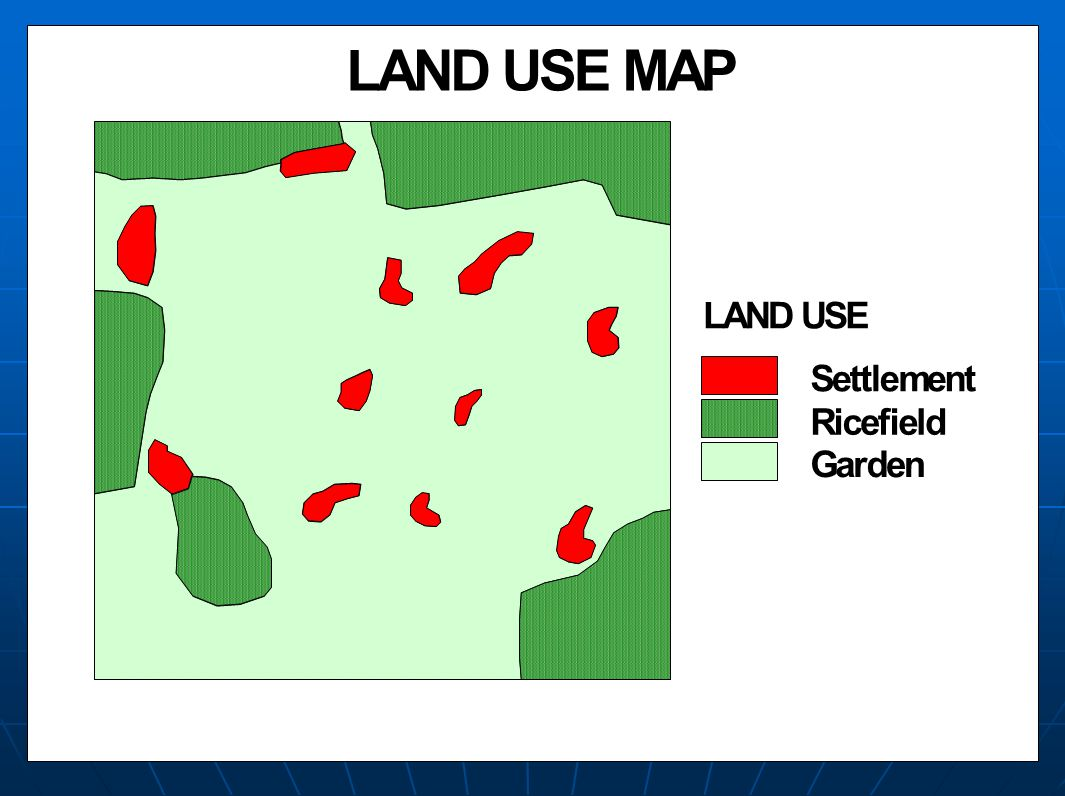 LAND USE MAP Settlement Ricefield Garden LAND USE