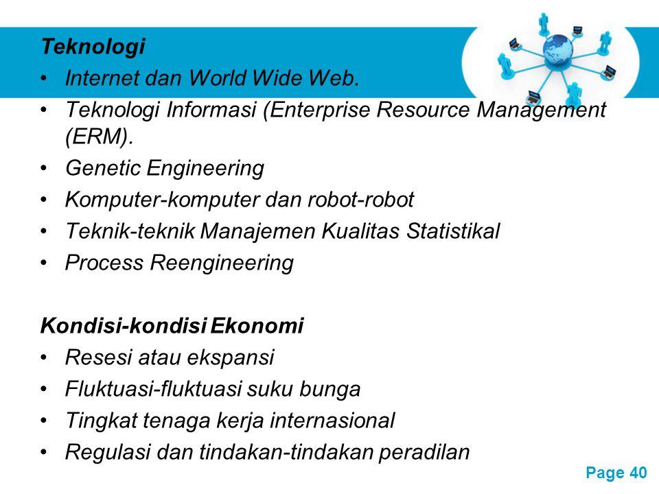 Free Powerpoint Templates Page 40 Teknologi Internet dan World Wide Web. Teknologi Informasi (Enterprise Resource Management (ERM). Genetic Engineerin