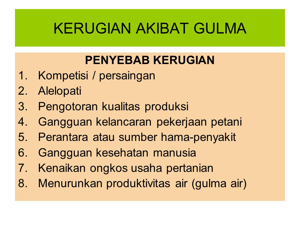 CARA UNTUK MENGETAHUI BAHWA GULMA YANG SUDAH MATI MENGELUARKAN ALELOPAT 2.