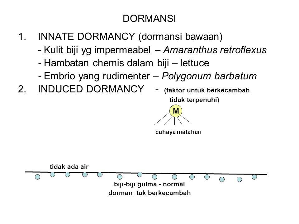 PERKEMBANGBIAKAN GULMA a.GENERATIF: 1.