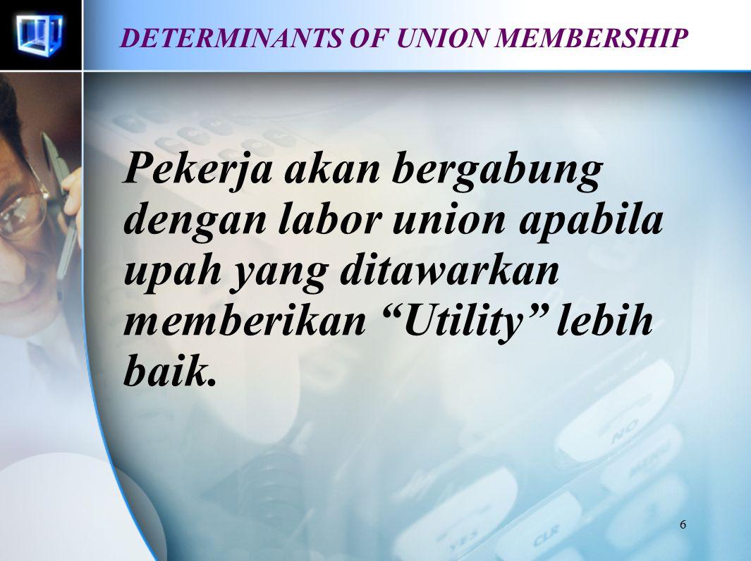 5 Labor Union Tujuan Meningkatkan upah Memperbaiki kondisi lingkungan kerja Cara : Collective Bergaining Pergerakan sosial Legislatif / political acti