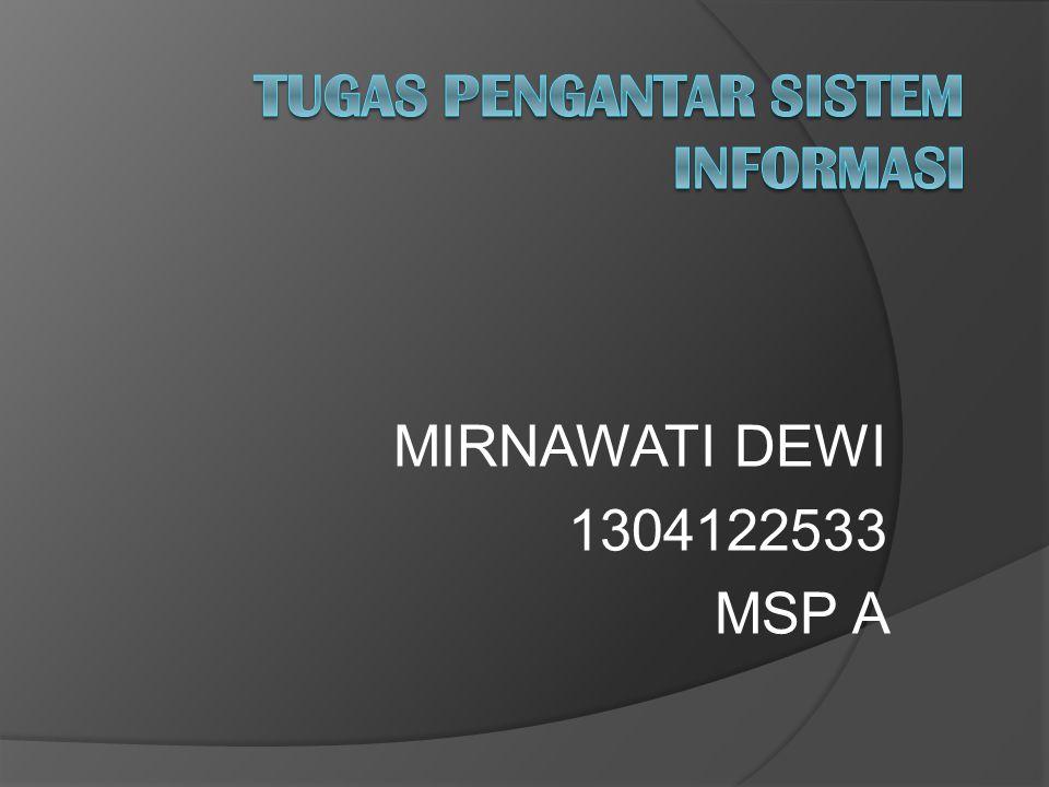 MIRNAWATI DEWI 1304122533 MSP A