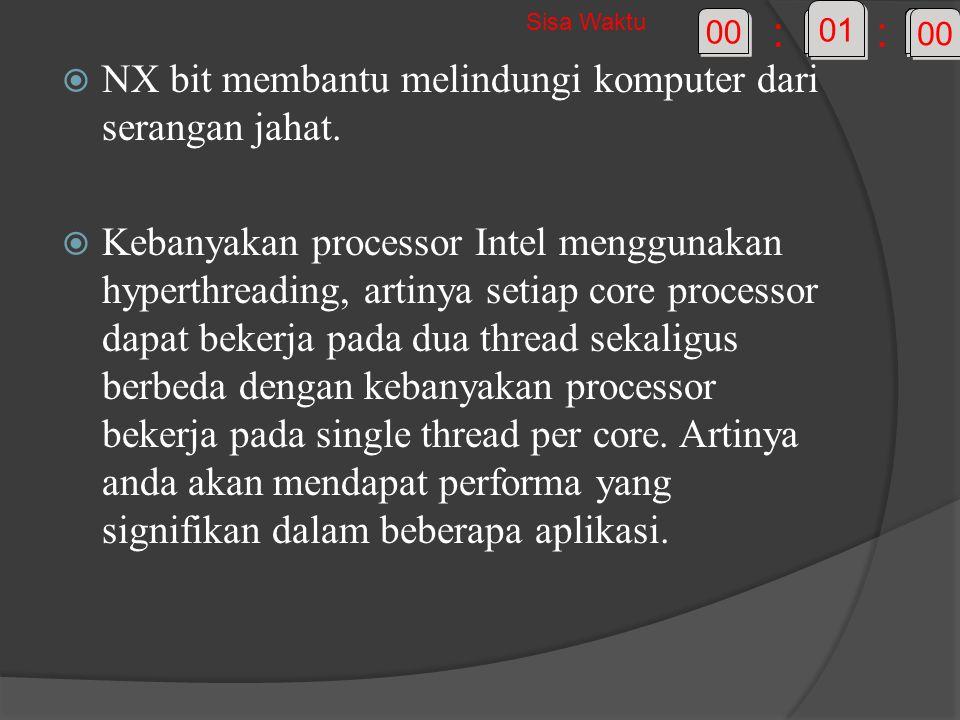  NX bit membantu melindungi komputer dari serangan jahat.