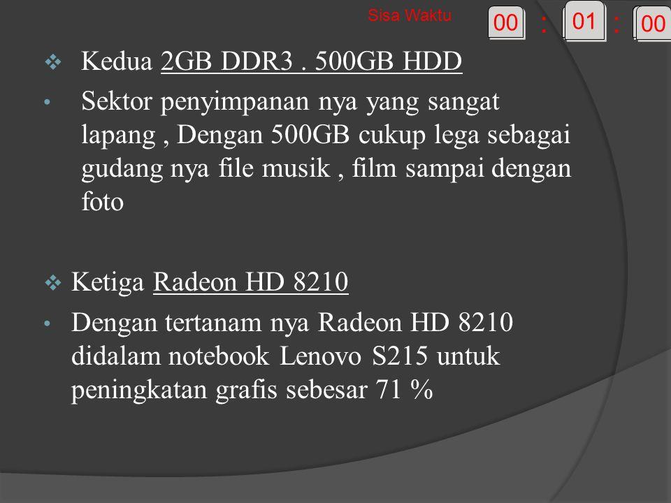  Kedua 2GB DDR3.
