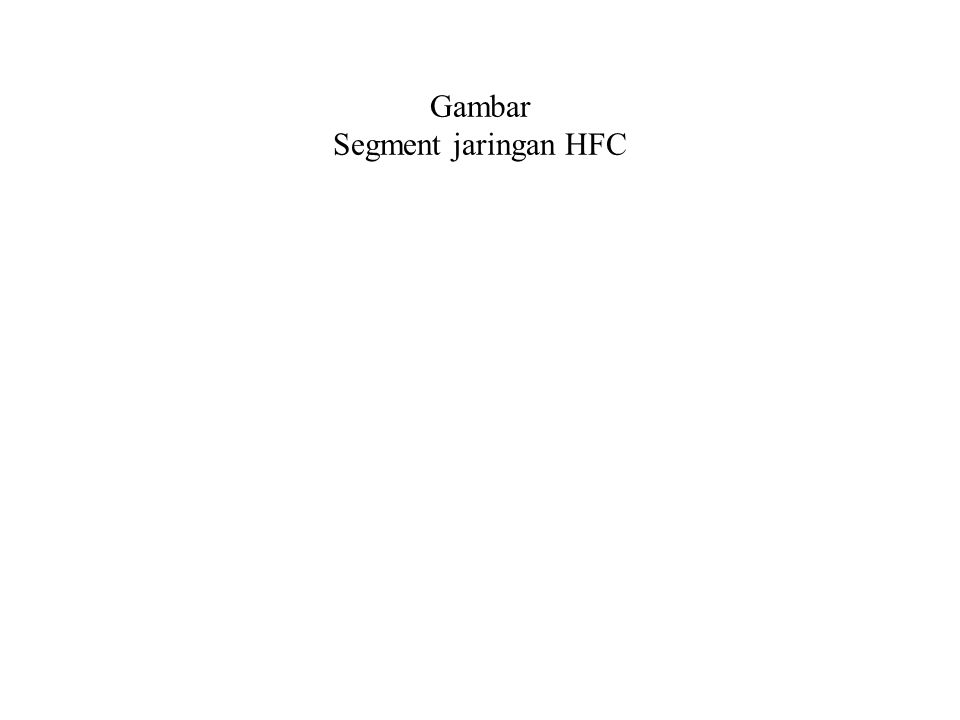 Gambar Segment jaringan HFC