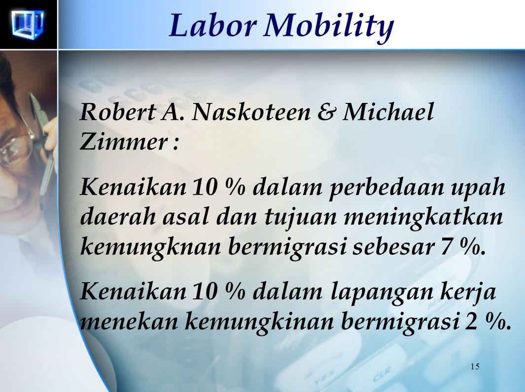 14 Labor Mobility Keputusan pindah : bernilai positif