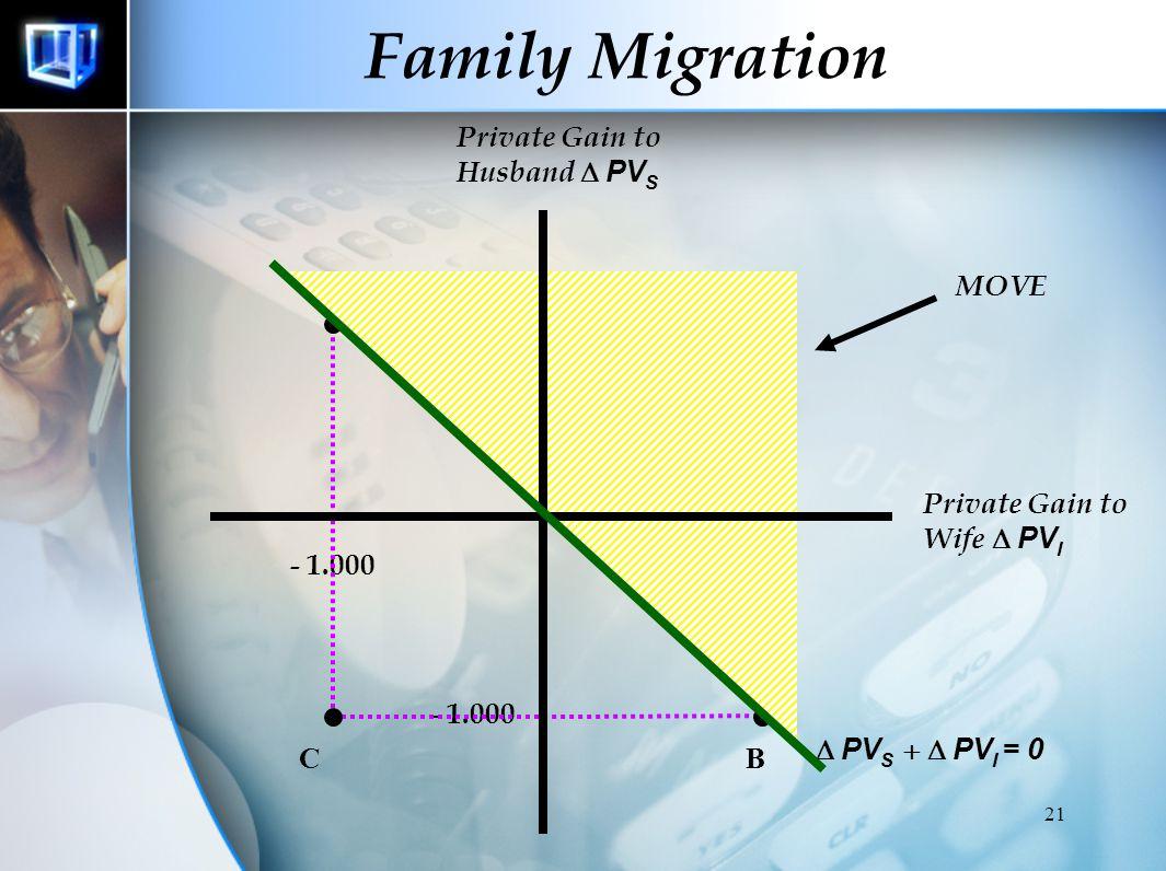 20 Family Migration Keluarga memiliki peranan dalam mengambil keputusan migrasi  Keputusan bukan untuk orang per orang, namun untuk seluruh anggota k