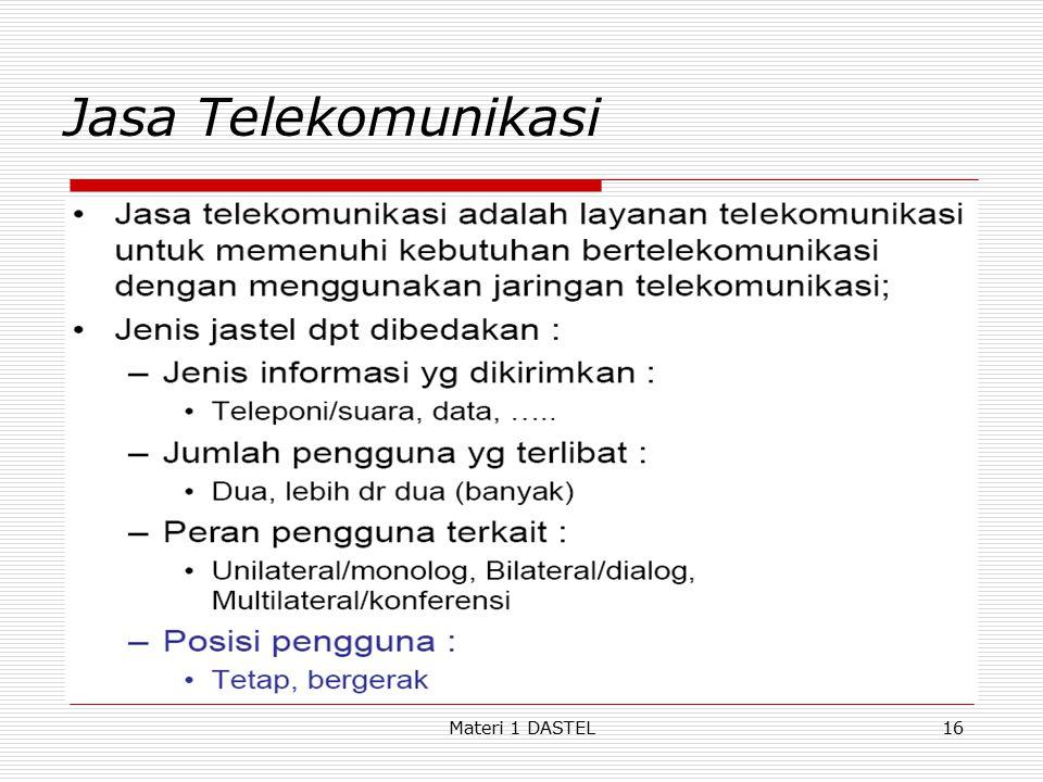 Materi 1 DASTEL Jasa Telekomunikasi 16