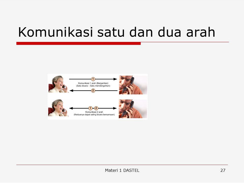 Komunikasi satu dan dua arah Materi 1 DASTEL27