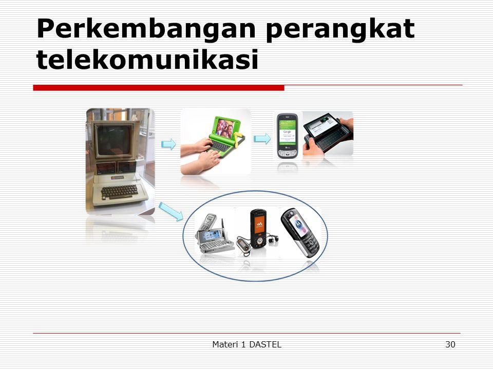 Perkembangan perangkat telekomunikasi Materi 1 DASTEL30