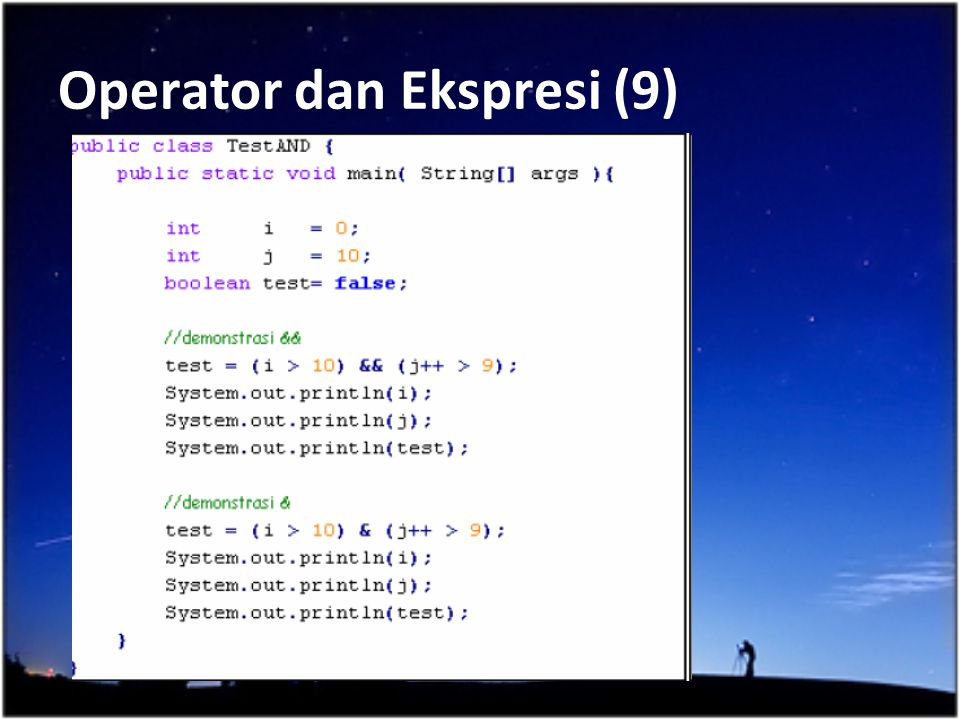 Operator dan Ekspresi (9)