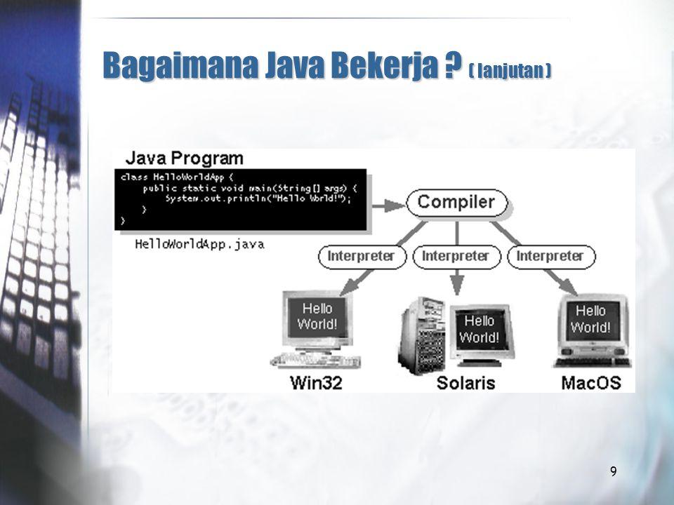 9 Bagaimana Java Bekerja ? ( lanjutan )