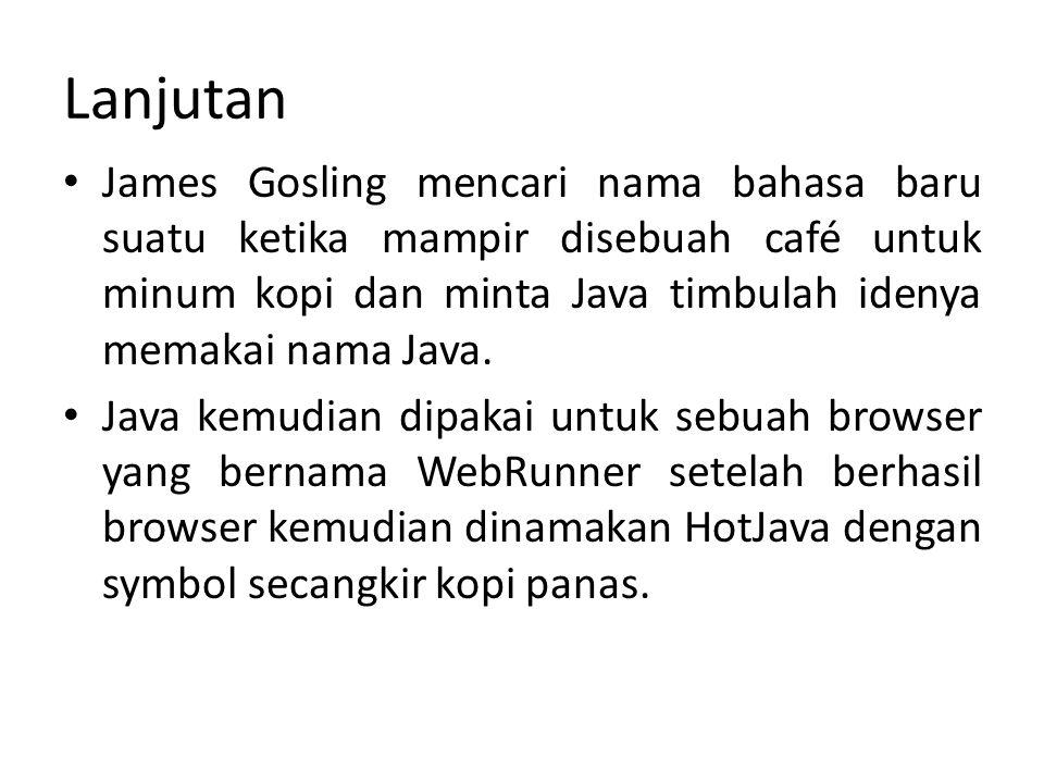 Lanjutan 1995 bahasa Java dan HotJAva diumumkan diweb.