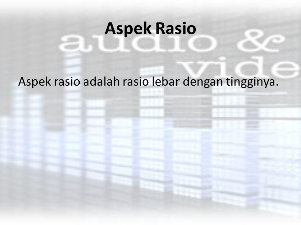 Aspek Rasio yang Paling Umum 4:3 Ini adalah format televisi standar yang digunakan di seluruh dunia mulai abad ke-20.