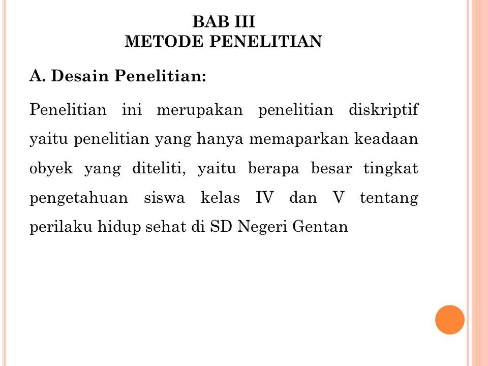 BAB III METODE PENELITIAN A.