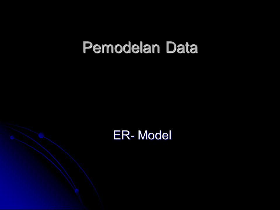 Entity Relationship Diagram  Sebuah teknik pemodelan data yang merepresentasikan gambar entitas dan relasi-relasi antar entitas di dalam sebuah sistem informasi  Dibentuk oleh dua komponen utama: - Entitas (Entity) - Relasi (Relationship) yang dideskripsikan lebih detail dengan sejumlah attribut (properti)