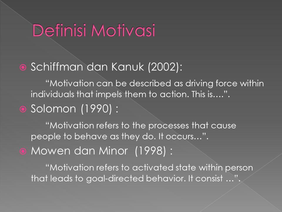  Motivasi dan kebutuhan konsumen dapat diukur dengan instrumen kuesioner atau dikenal dengan metode pelapor diri (self-report)  Metode ini dilakukan dimana sejumlah pertanyaan diajukan kepada konsumen dan konsumen melaporkan motivasi dan kebutuhan sebagaimana ditanyakan kepadanya