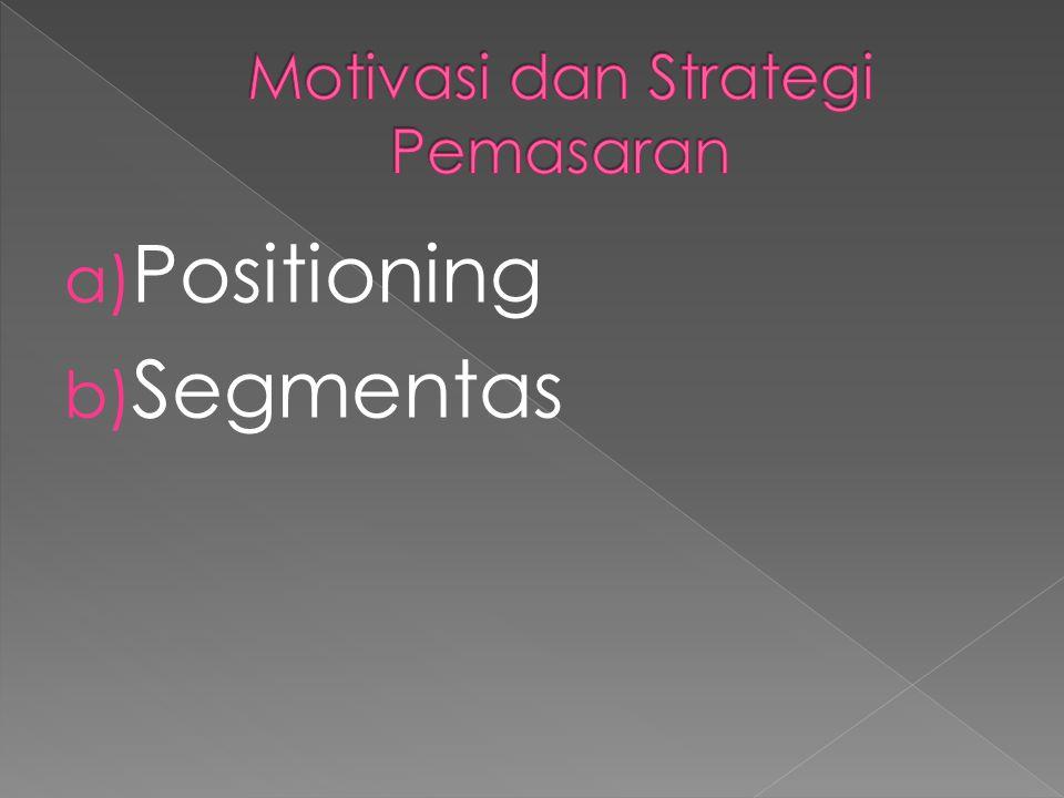 a) Positioning b) Segmentas