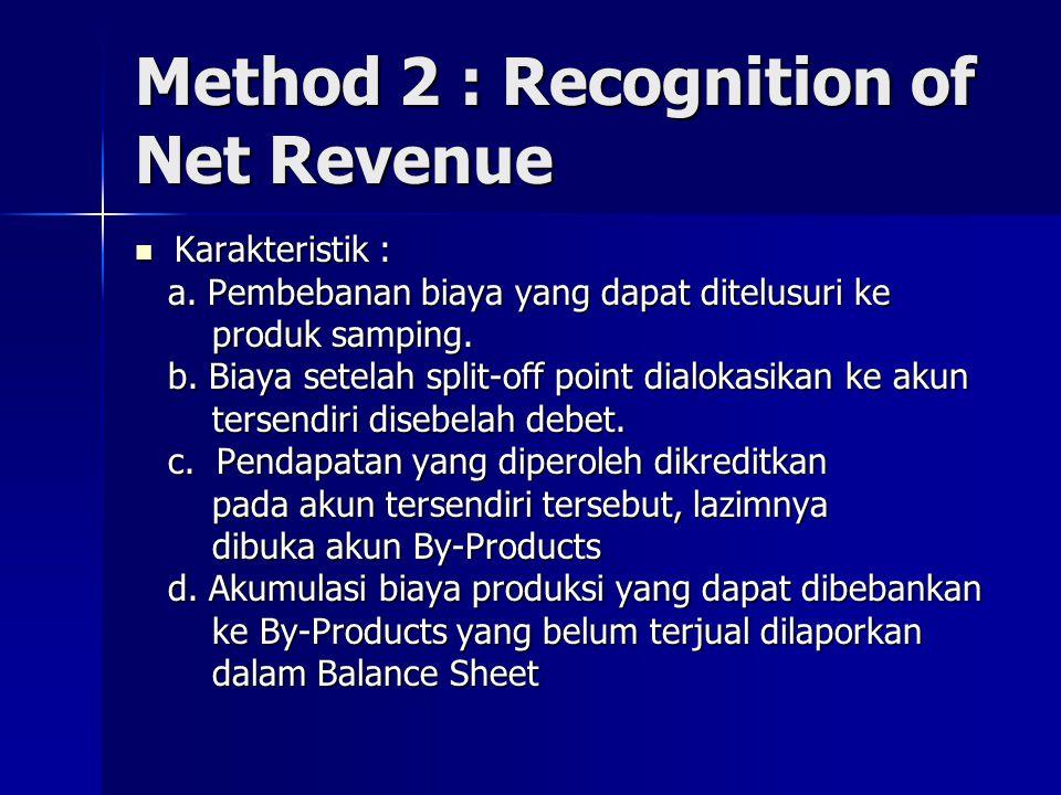 Method 3 : Replacement Cost Method Karakteristik : Karakteristik : a.