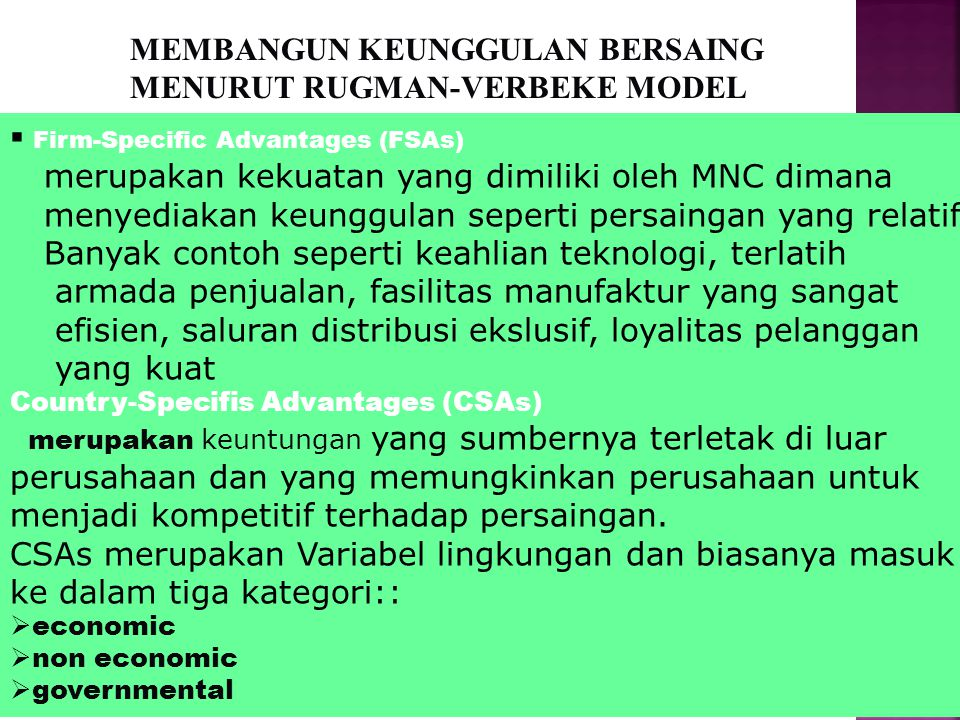 FACTOR CONDITIONS  Land (Tanah)  Labor (Buruh)  Capital (Modal) DEMAND CONDITIONS  Wants (Keinginan)  Customer Desires (Keinginan Pelanggan) RELA