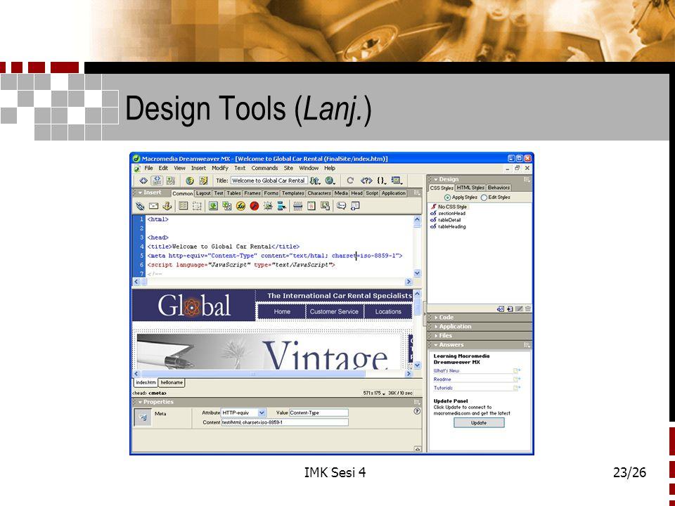 IMK Sesi 423/26 Design Tools ( Lanj. )
