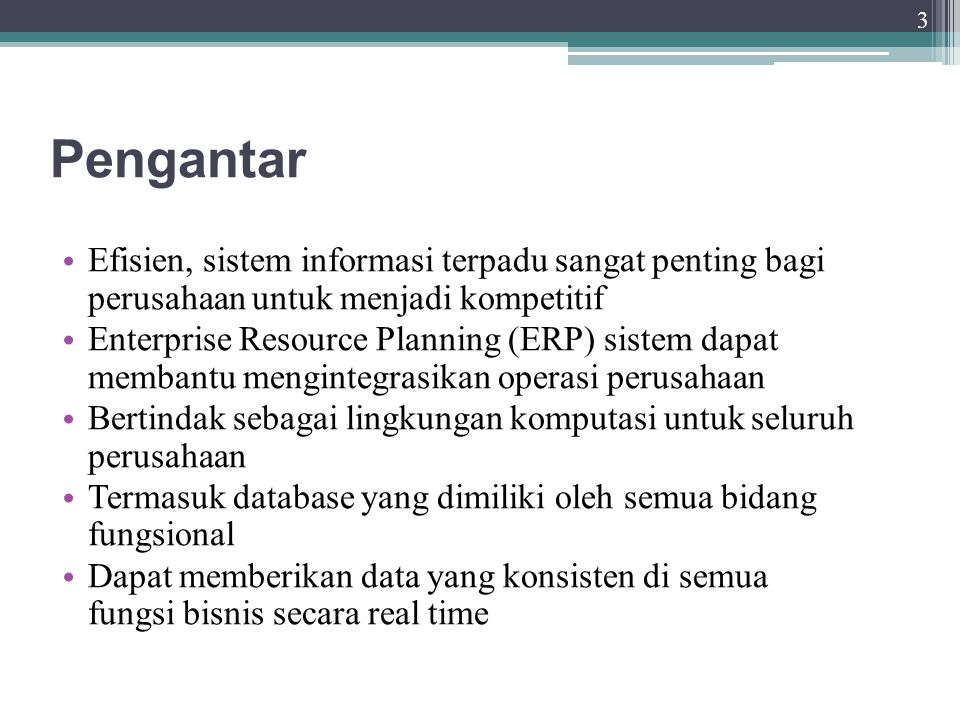 Evolusi Sistem Informasi Konfigurasi sistem informasi yang digunakan sampai saat ini.