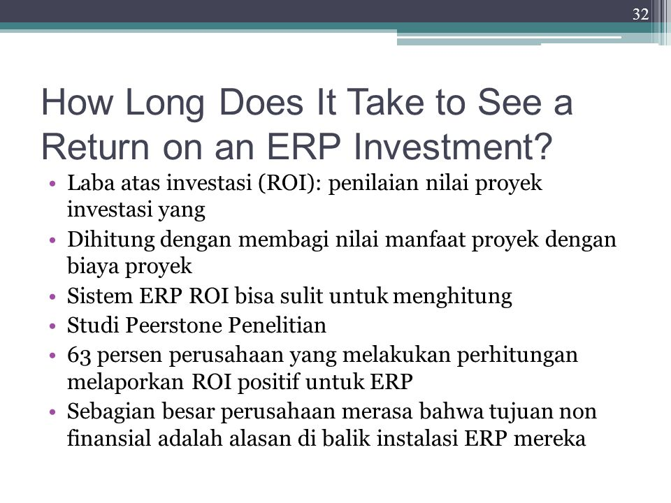 How Long Does It Take to See a Return on an ERP Investment.