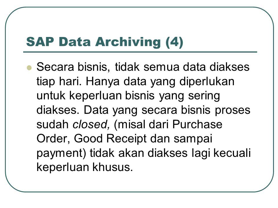 SAP Data Archiving (4) Secara bisnis, tidak semua data diakses tiap hari.