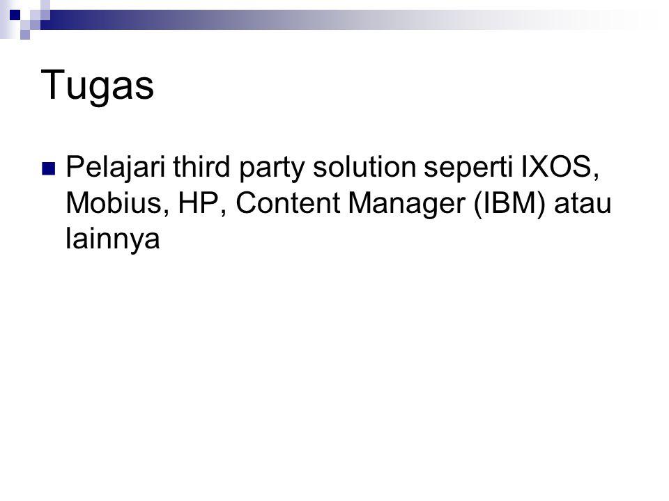 Tugas Pelajari third party solution seperti IXOS, Mobius, HP, Content Manager (IBM) atau lainnya