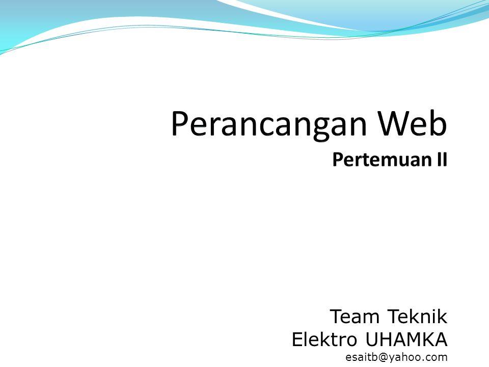 Team Teknik Elektro UHAMKA esaitb@yahoo.com