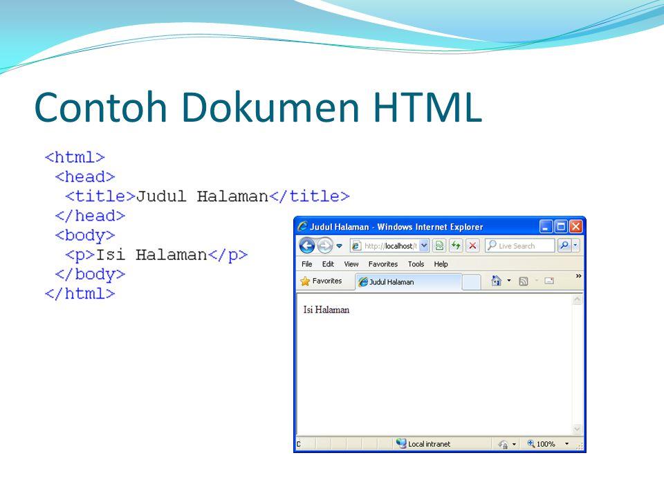 Contoh Dokumen HTML