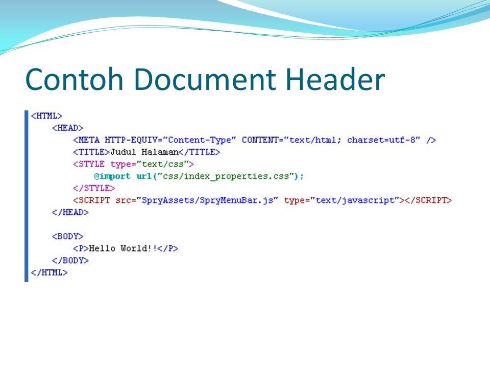 Contoh Document Header
