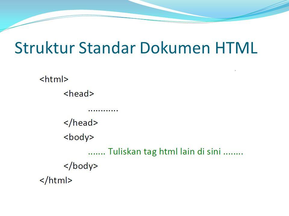Struktur Standar Dokumen HTML