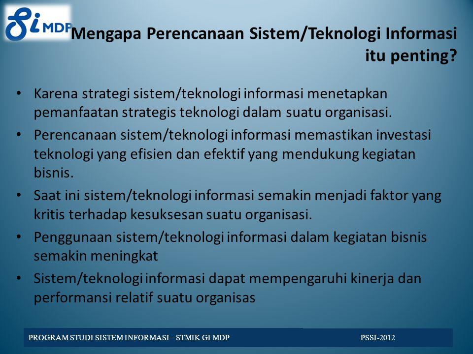 Mengapa Perencanaan Sistem/Teknologi Informasi itu penting.