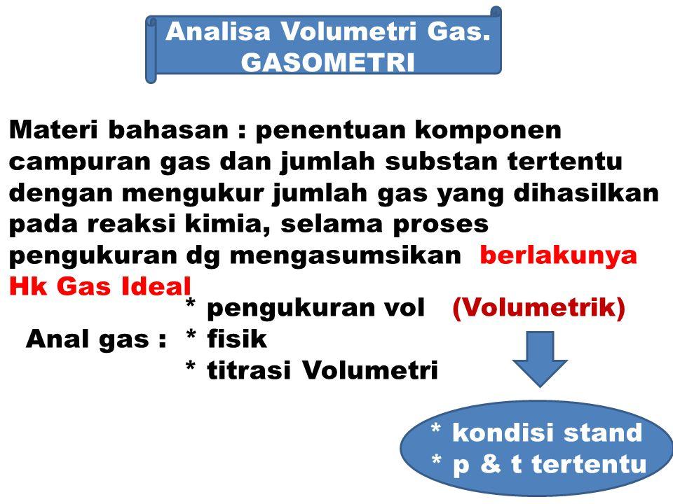 Analisa volumetrik gas.