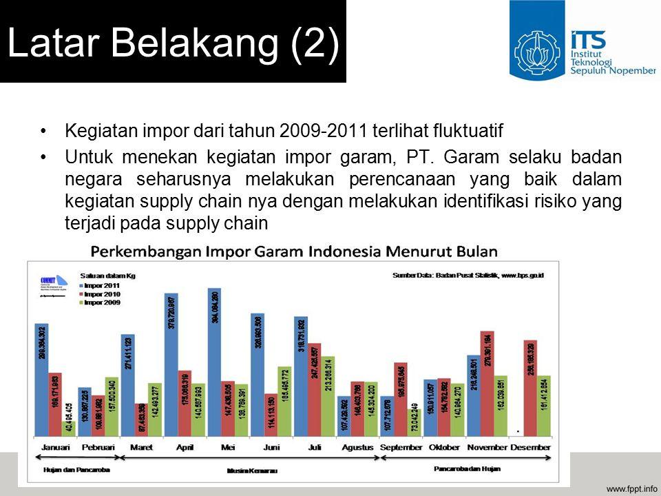 Kegiatan impor dari tahun 2009-2011 terlihat fluktuatif Untuk menekan kegiatan impor garam, PT.