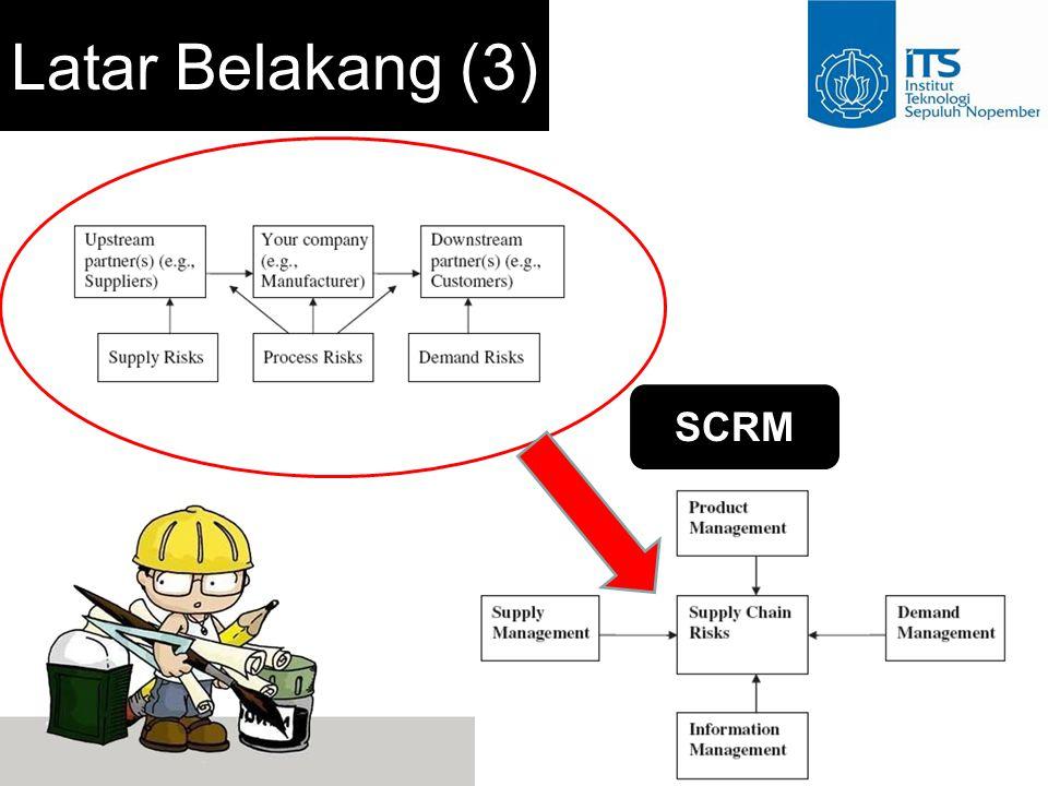 Perumusan Masalah Bagaimana mengidentifikasi dan menganalisa risiko pada supply chain PT.