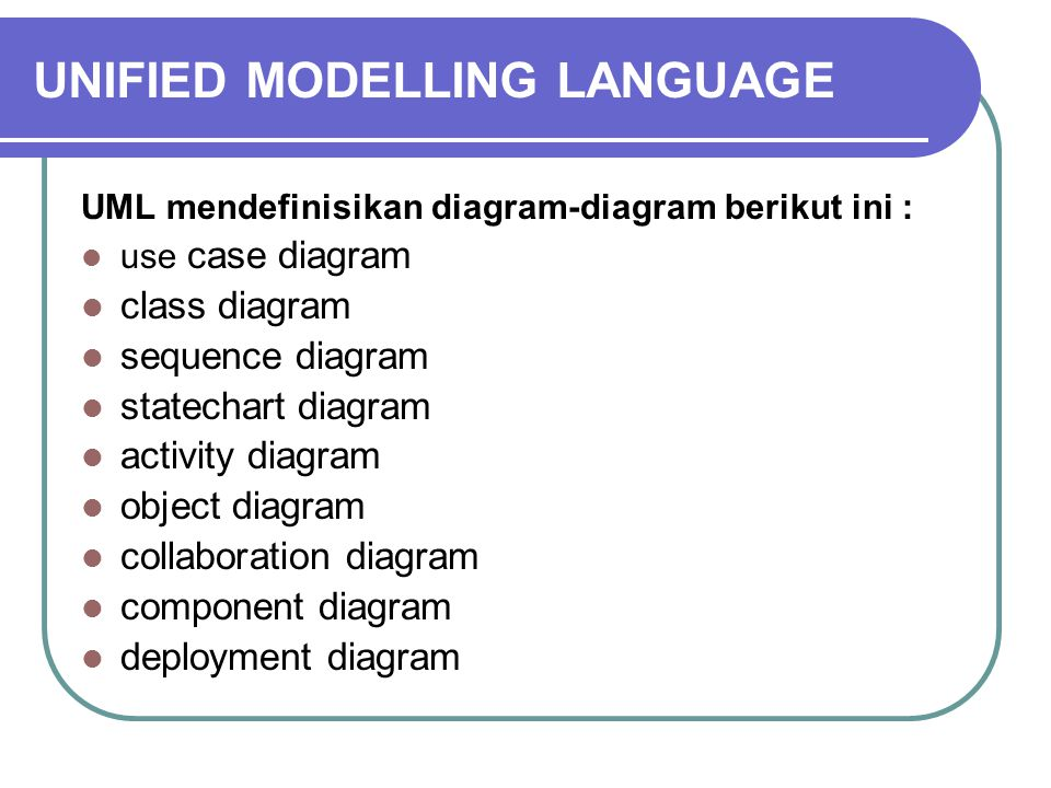 UNIFIED MODELLING LANGUAGE 1.