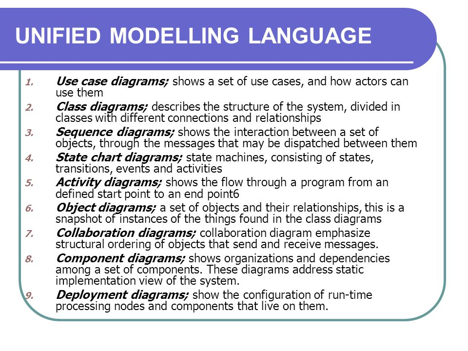 UNIFIED MODELLING LANGUAGE Things & Relationship……