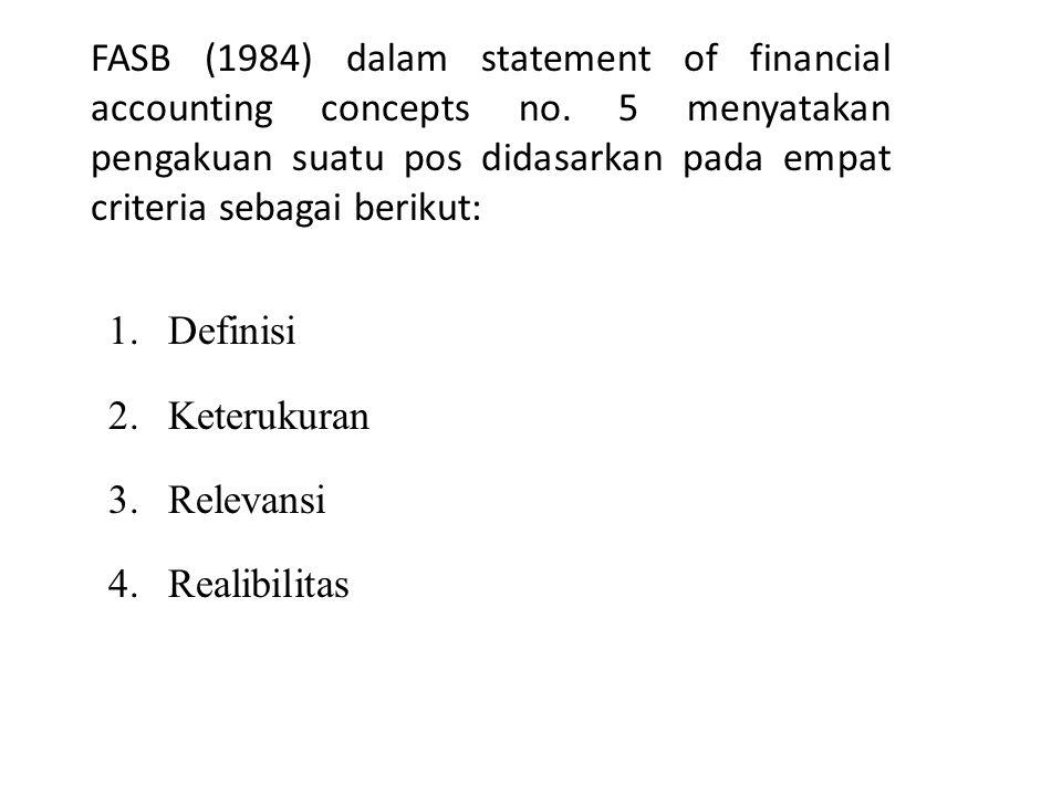 FASB (1984) dalam statement of financial accounting concepts no.