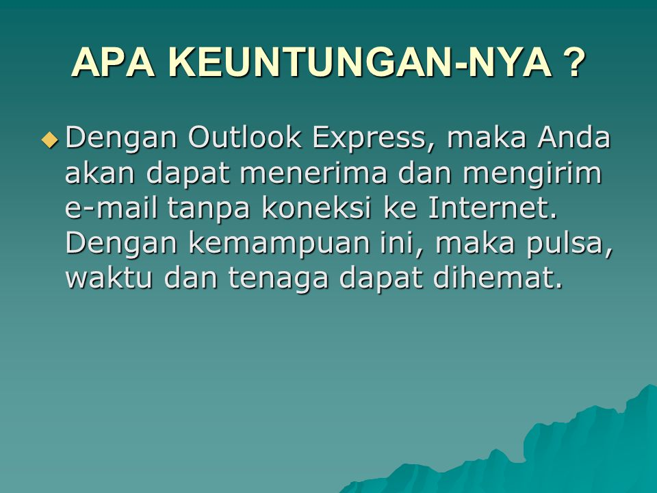 Tampilan Outlook Express