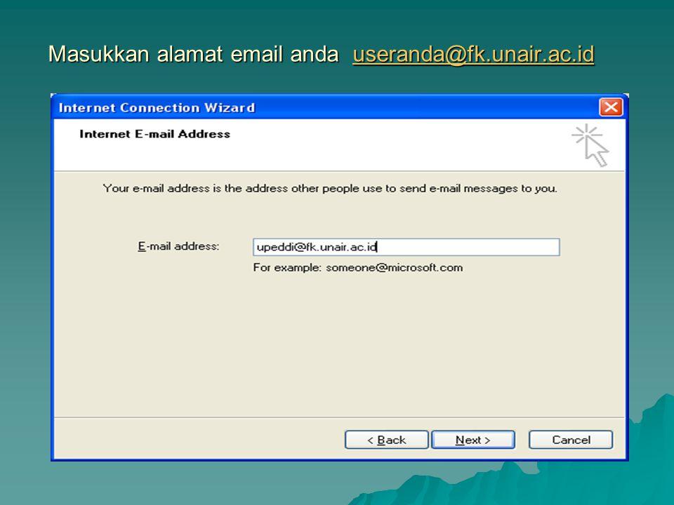 Masukkan alamat email anda useranda@fk.unair.ac.id useranda@fk.unair.ac.id