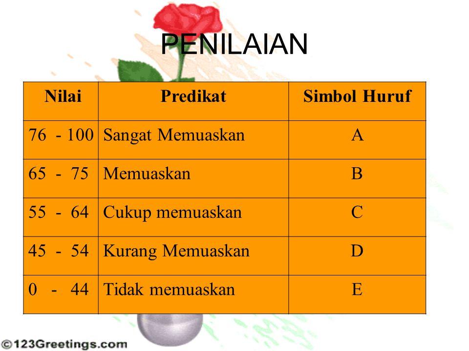  Skala ini memiliki unsur-unsur lengkap yaitu nominal, ordinal, interval.