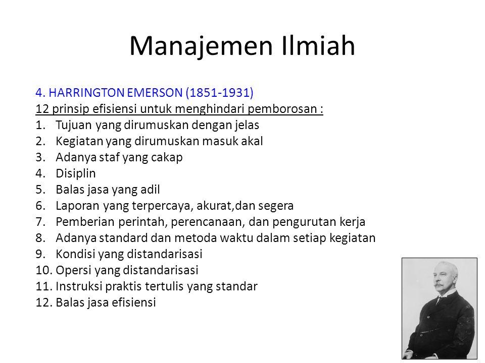 Manajemen Ilmiah 4.