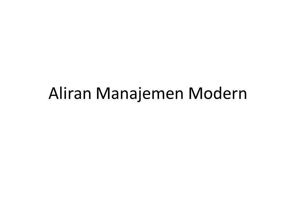 Aliran Manajemen Modern