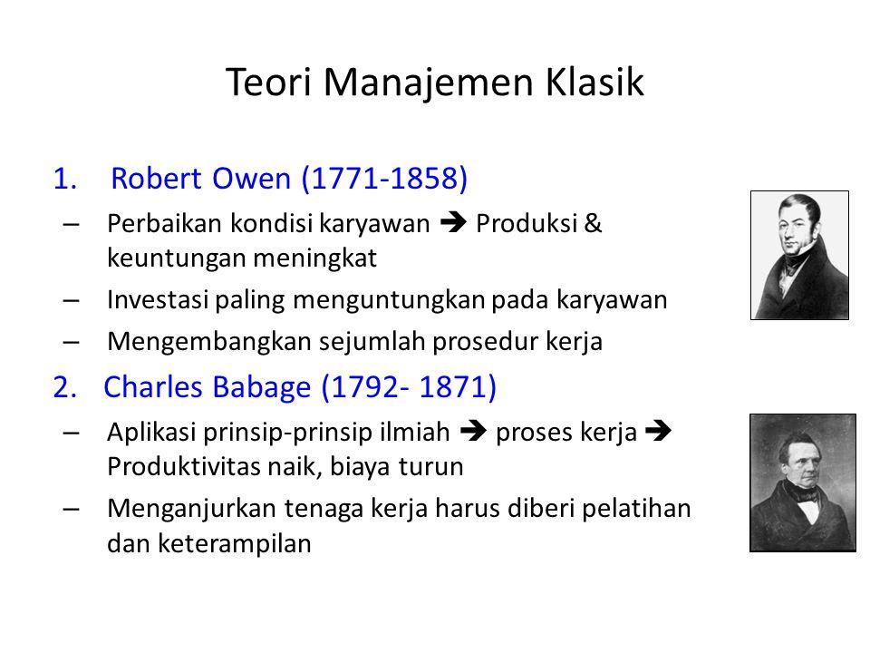 Teori Manajemen Klasik 1.