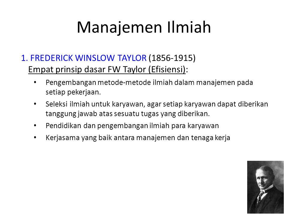 Manajemen Ilmiah 2.