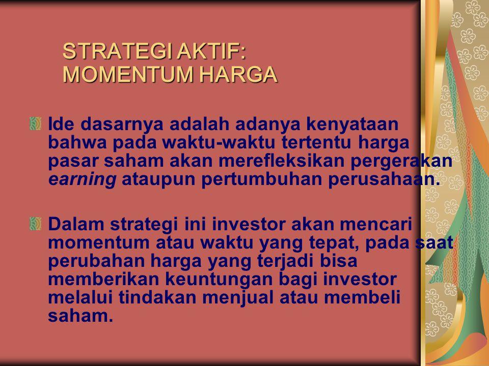 Ide dasarnya adalah adanya kenyataan bahwa pada waktu-waktu tertentu harga pasar saham akan merefleksikan pergerakan earning ataupun pertumbuhan perus