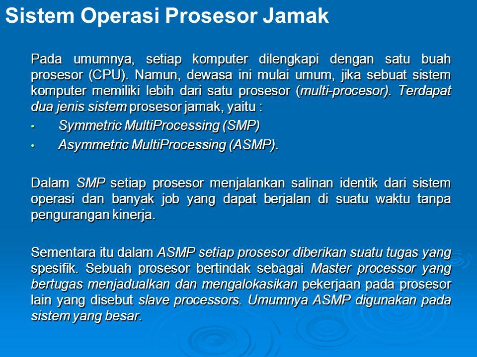 Pada umumnya, setiap komputer dilengkapi dengan satu buah prosesor (CPU).