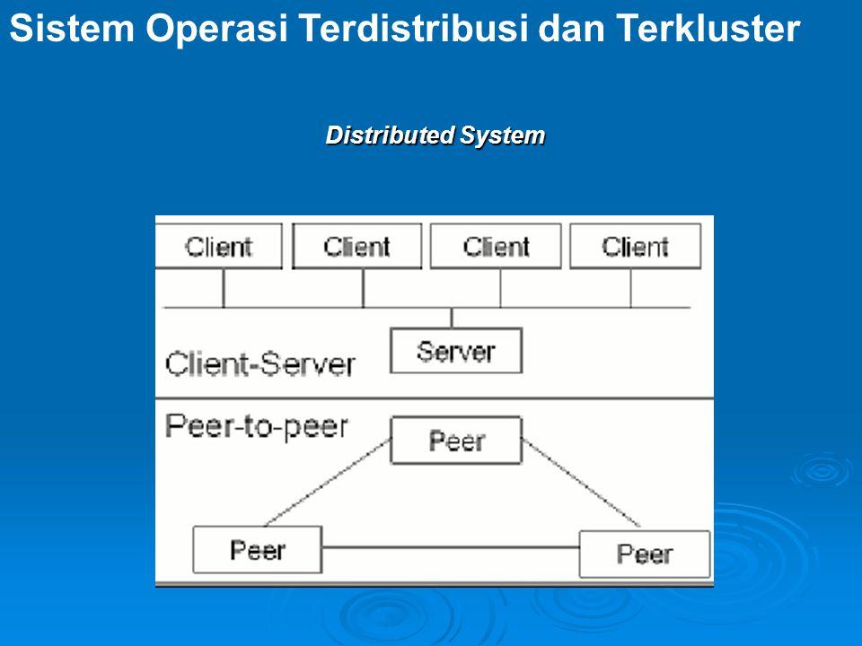 Distributed System Sistem Operasi Terdistribusi dan Terkluster